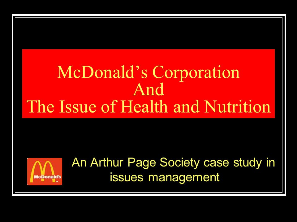 Quote Examples We don't sell nutrition and people don't come to McDonald's for nutrition.