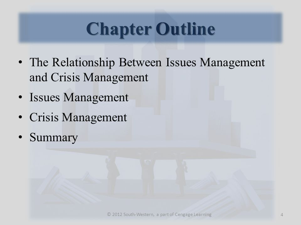 Issues Management and Crisis Management The business environment is turbulent and stakeholders are sensitive to emerging issues.