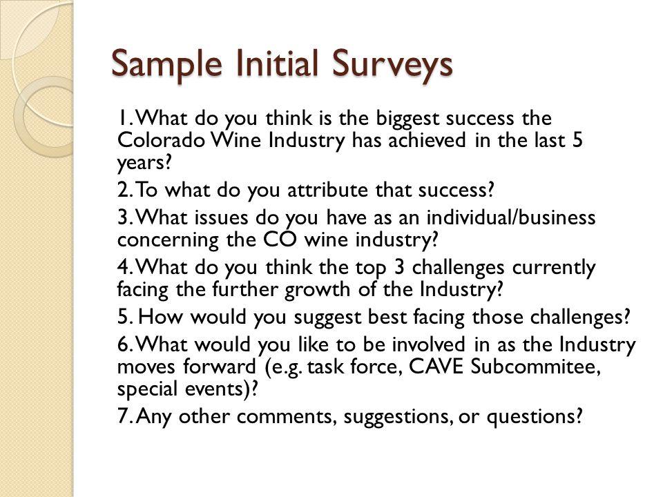 Sample Initial Surveys 1.
