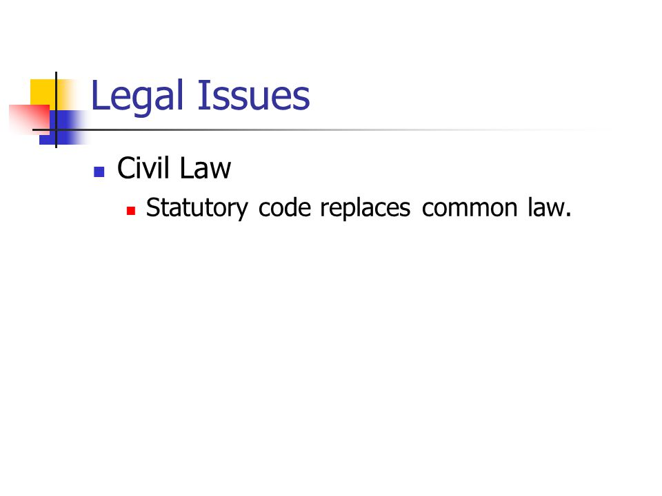 Legal Issues In common and civil law systems, other items have legal significance Course of dealing over time Usage of trade Parties' agreement on principles to govern their relationship Trading Partner Agreements (TPA)