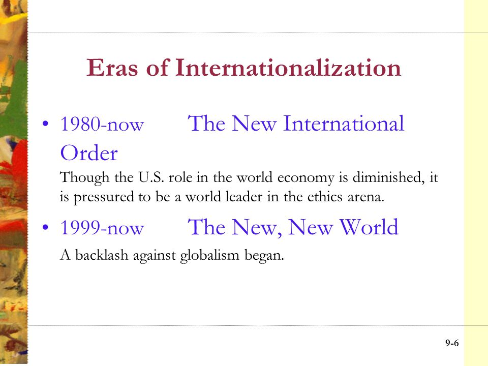 9-16 Improving Global Business Ethics The Multinational Corp.