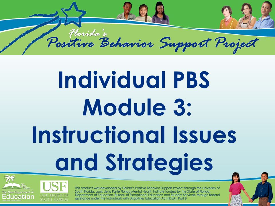 Individual PBS Module 3: Instructional Issues and Strategies