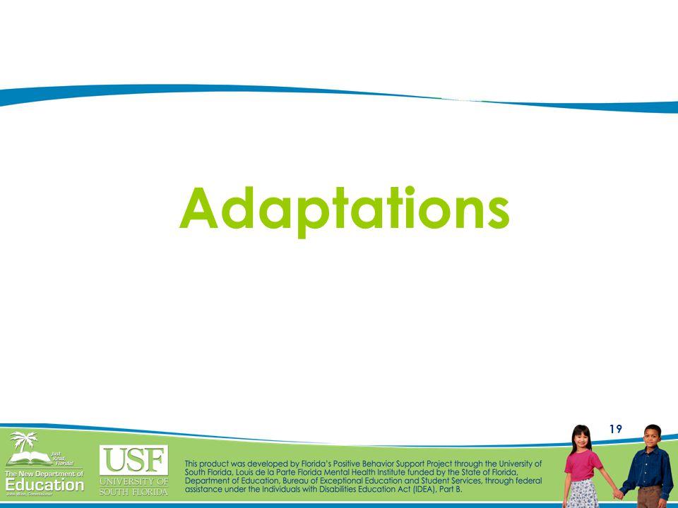 19 Adaptations