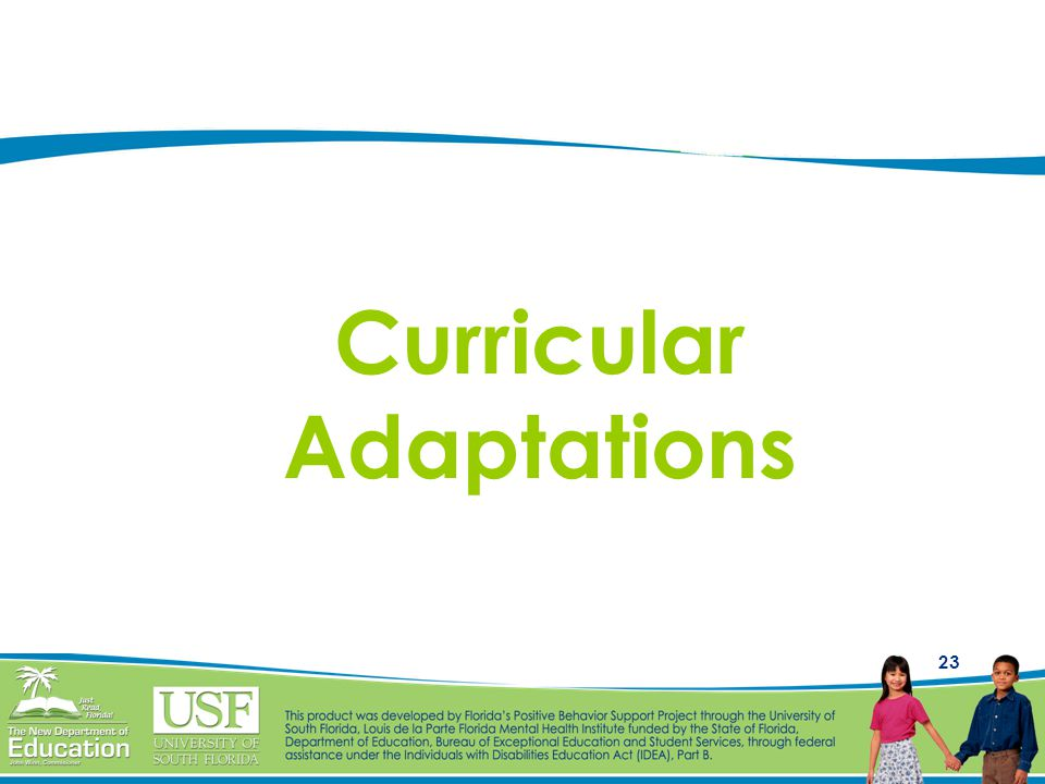 23 Curricular Adaptations
