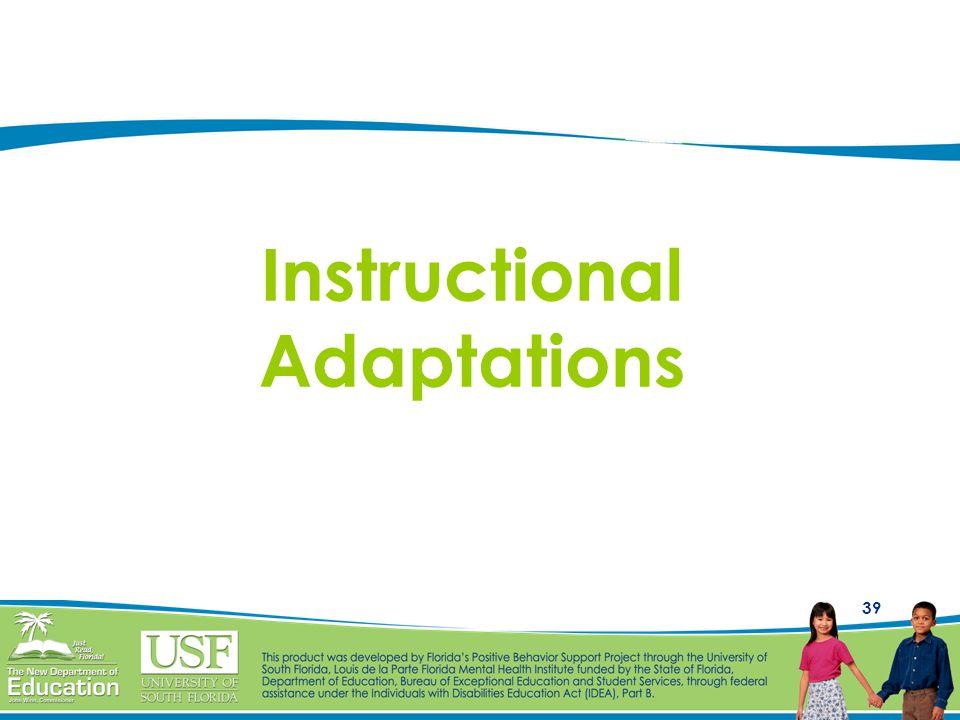 39 Instructional Adaptations