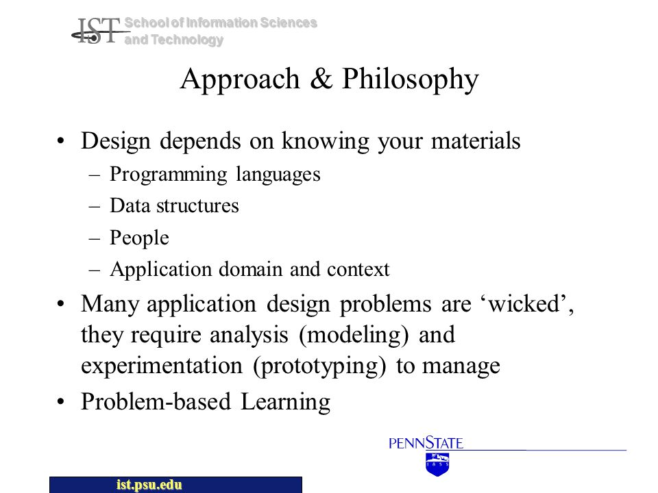ist.psu.edu School of Information Sciences and Technology Course Project Use Cases