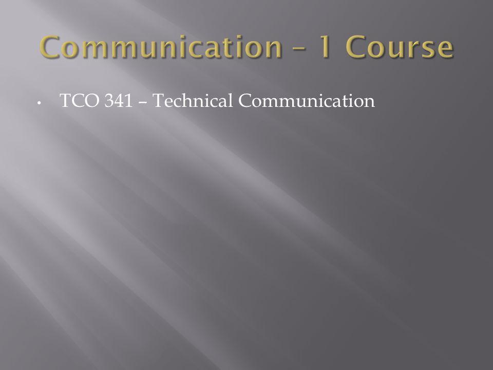TCO 341 – Technical Communication