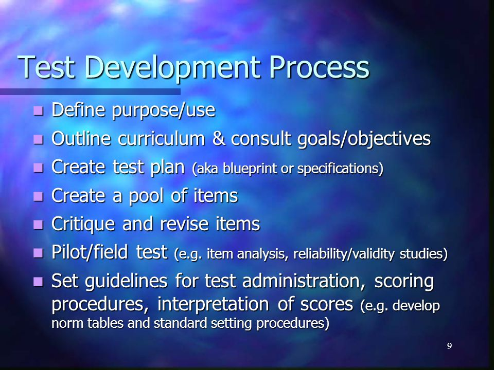 10 Exercise 2 (10 minutes) What role does the exam play in the assessment plan for this department.