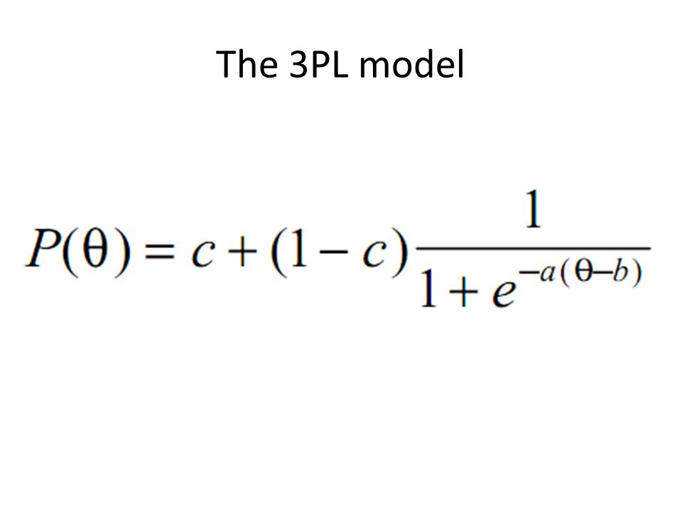 The 3PL model