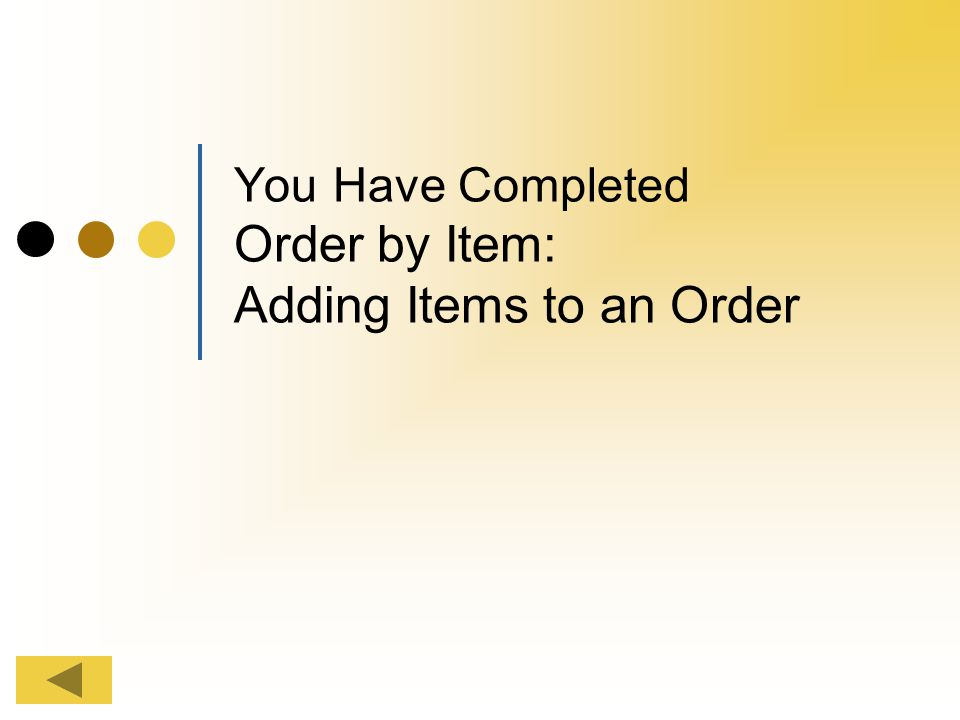 Viewing Submitted Orders You can review your order by viewing Submitted Orders