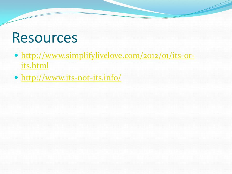 Resources   its.html   its.html