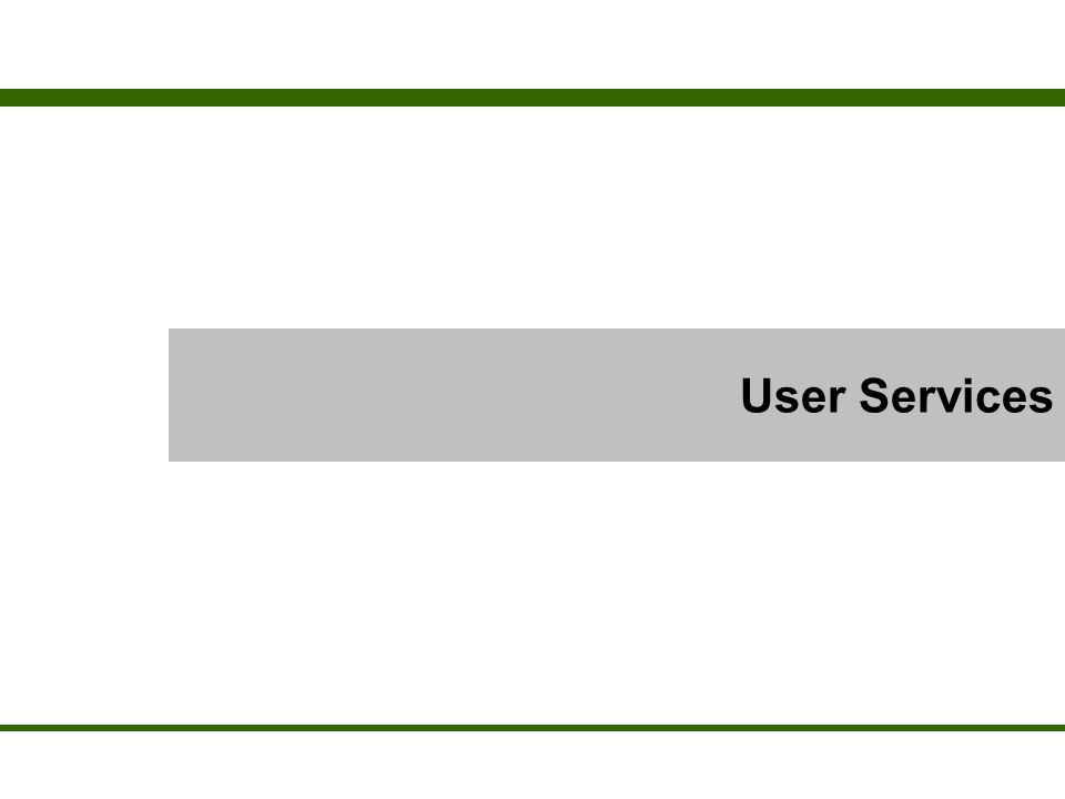 What is a User Service.