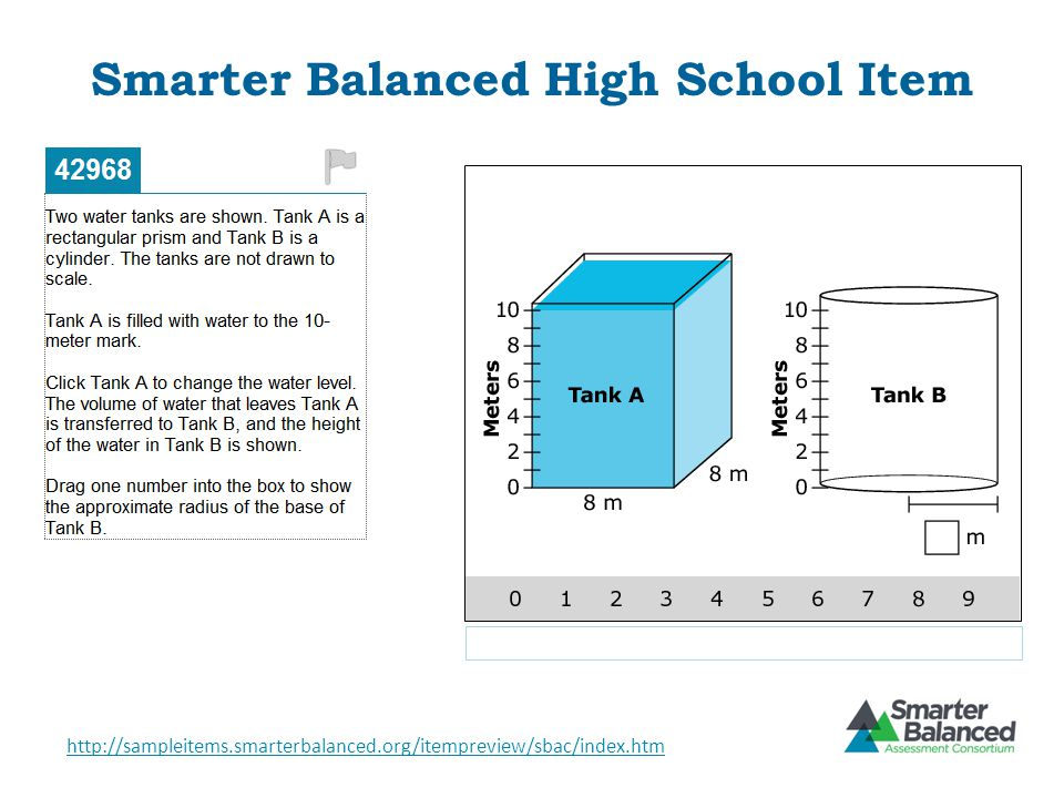 Smarter Balanced High School Item http://sampleitems.smarterbalanced.org/itempreview/sbac/index.htm