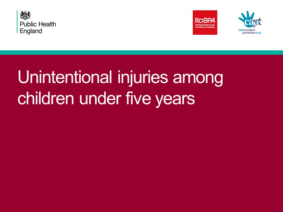 Numbers of deaths due to accidental drowning and submersion among under fives, 2008–2012 Unintentional injuries among children under five W65Drowning and submersion while in bath-tub18 W67Drowning and submersion while in swimming-pool6 W69Drowning and submersion while in natural water2 W70Drowning and submersion following fall into natural water2 W68Drowning and submersion following fall into swimming-pool1 W66Drowning and submersion following fall into bath-tub0 W74Unspecified drowning and submersion22 W73Other specified drowning and submersion14 Total65 Source: Office for National Statistics.
