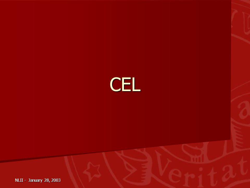 NLII - January 28, 2003 CEL