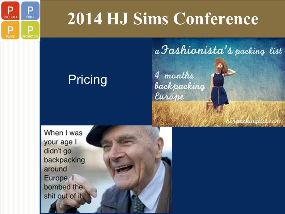 2014 HJ Sims Conference Pricing