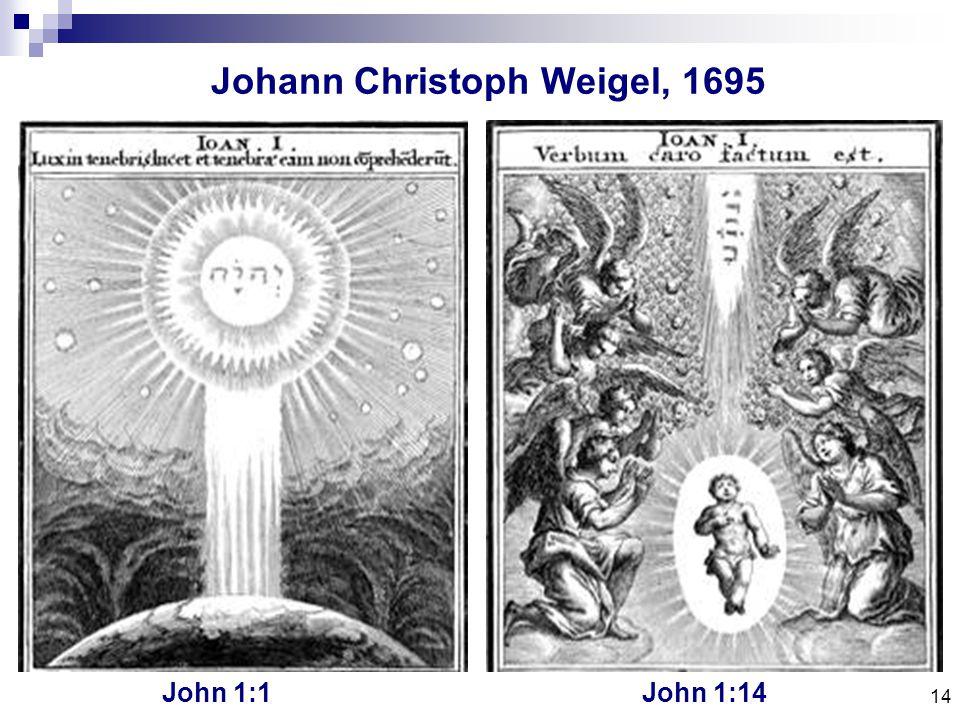 14 Johann Christoph Weigel, 1695 John 1:1John 1:14
