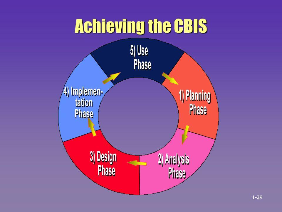 Achieving the CBIS 1-29