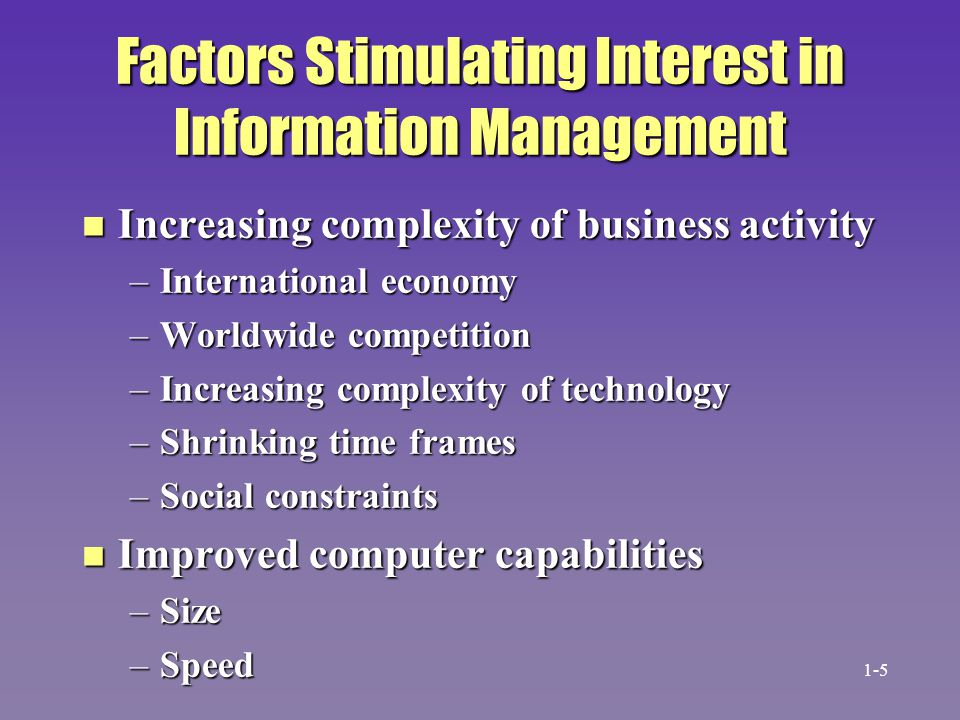 End-User Computing (EUC) n End-user computing –Development of all or part of applications –Information specialists act as consultants n Stimulants to EUC –Increased computer literacy –IS backlog –Low-cost hardware (the PC) –Prewritten software (electronic spreadsheets) 1-26