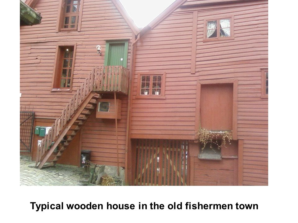 Typical wooden house in the old fishermen town
