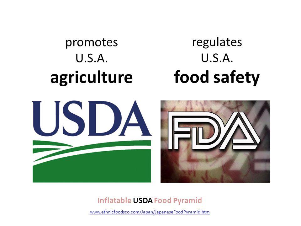 promotes U.S.A. agriculture regulates U.S.A.