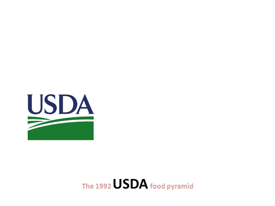 The 1992 USDA food pyramid