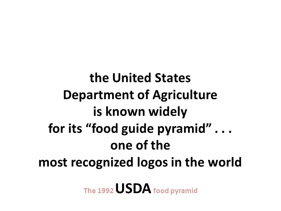 The 1992 USDA food guide pyramid this is the old (1992) version