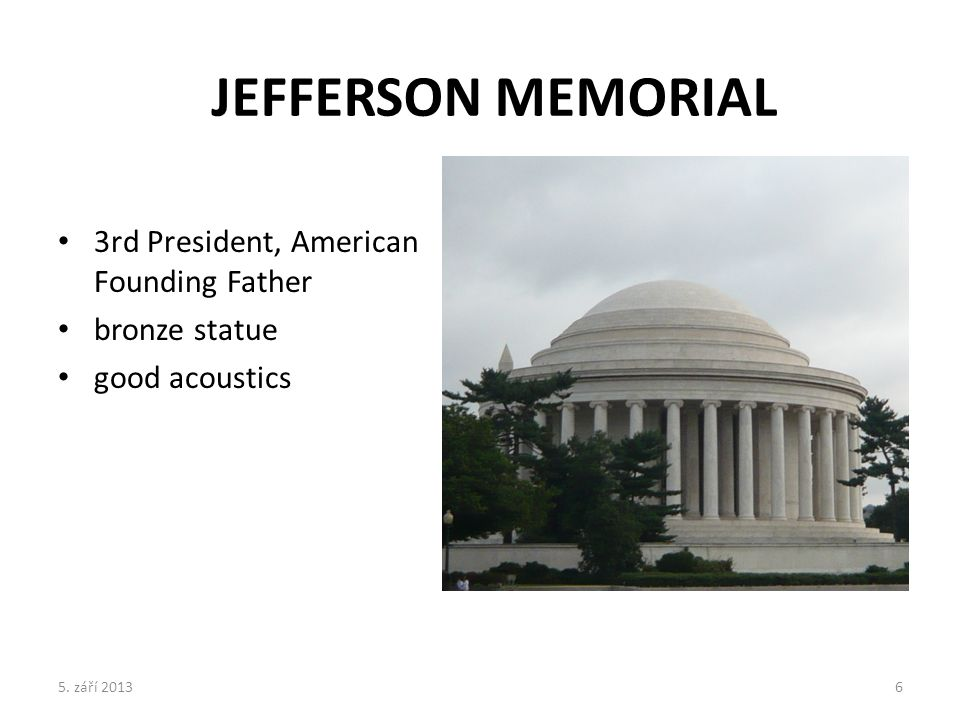 3rd President, American Founding Father bronze statue good acoustics JEFFERSON MEMORIAL 5.