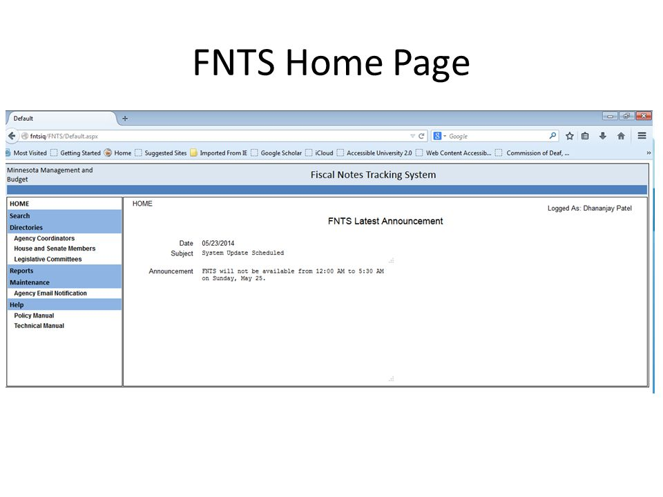 FNTS Home Page
