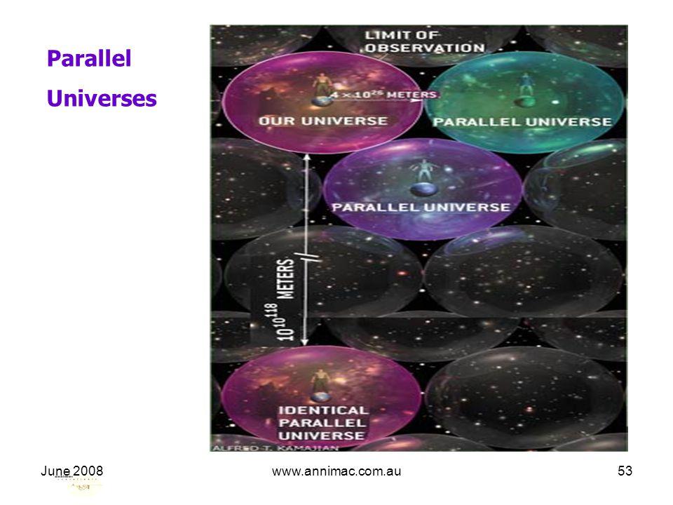 June 2008www.annimac.com.au53 Parallel Universes
