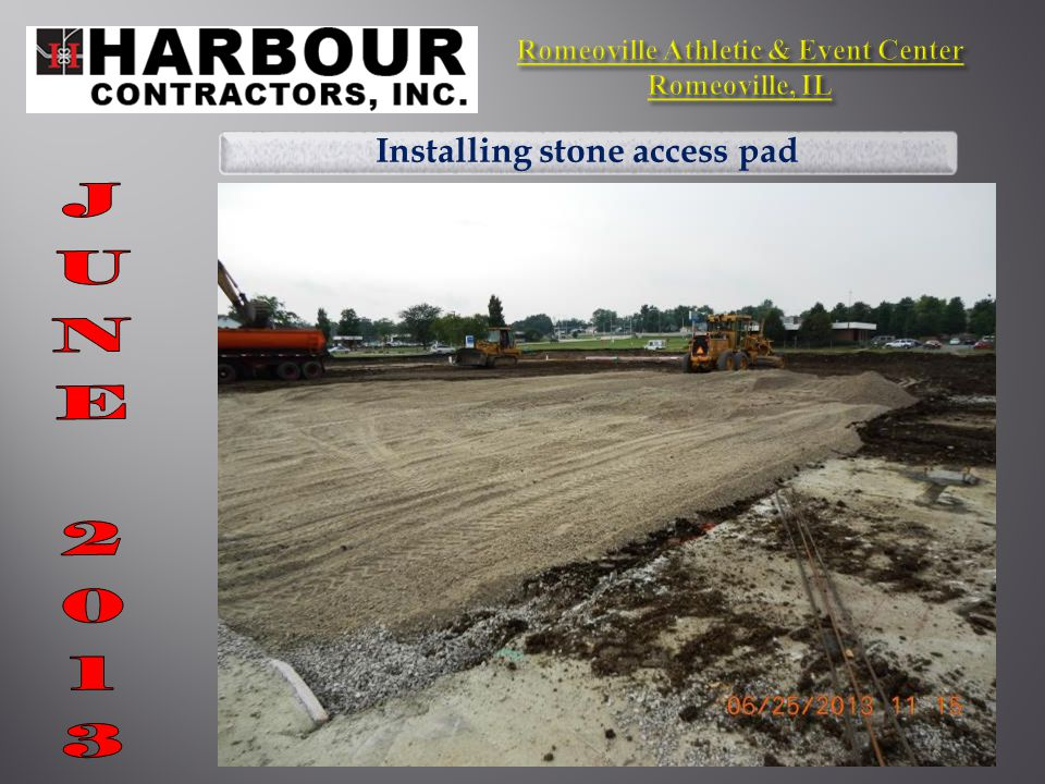 Installing stone access pad
