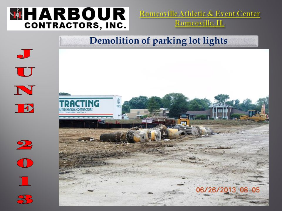 Demolition of parking lot lights