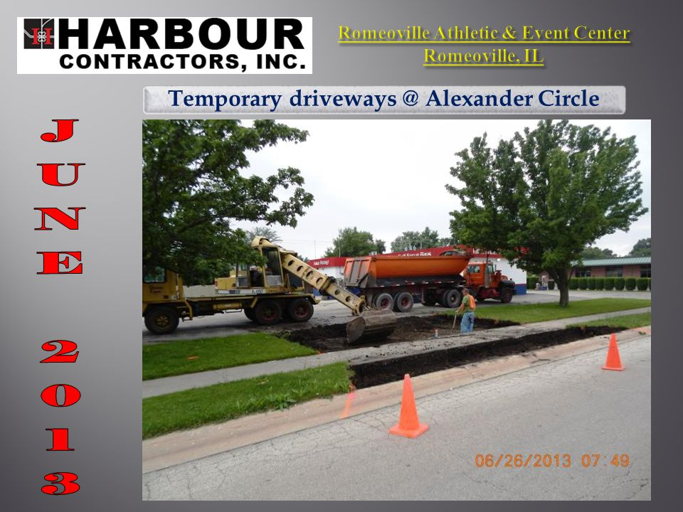Temporary driveways @ Alexander Circle