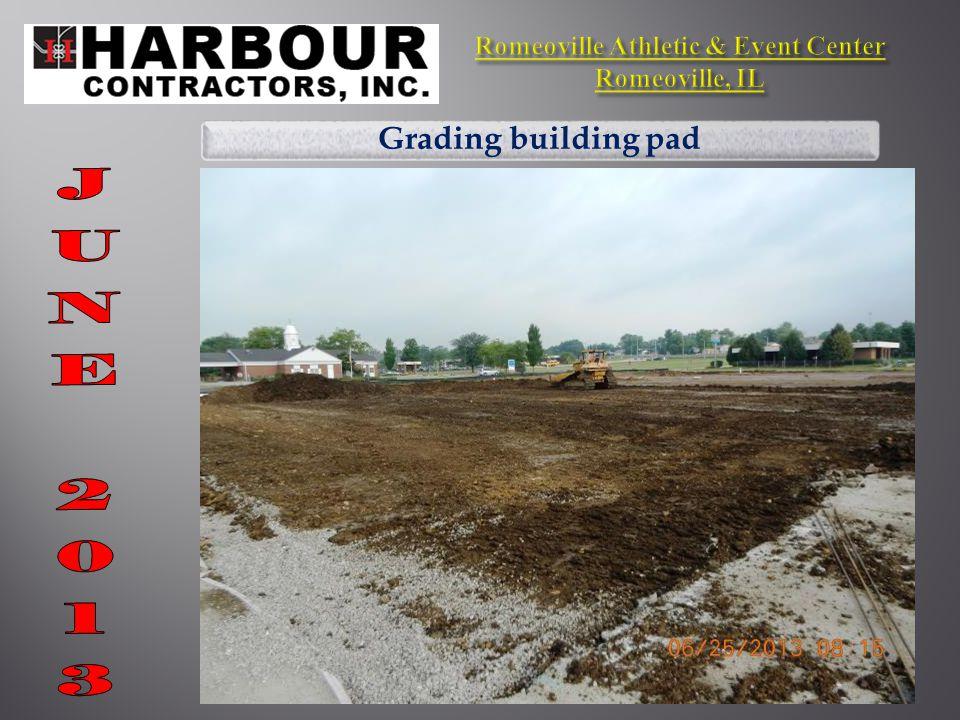 Grading building pad