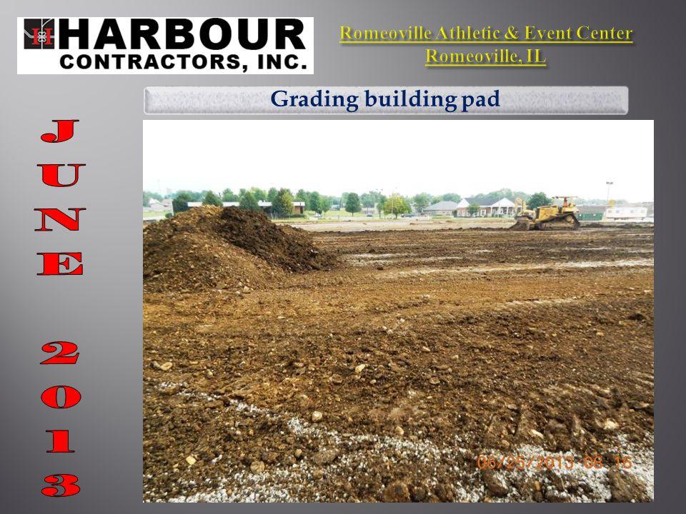 Demolition of parking lot curbs