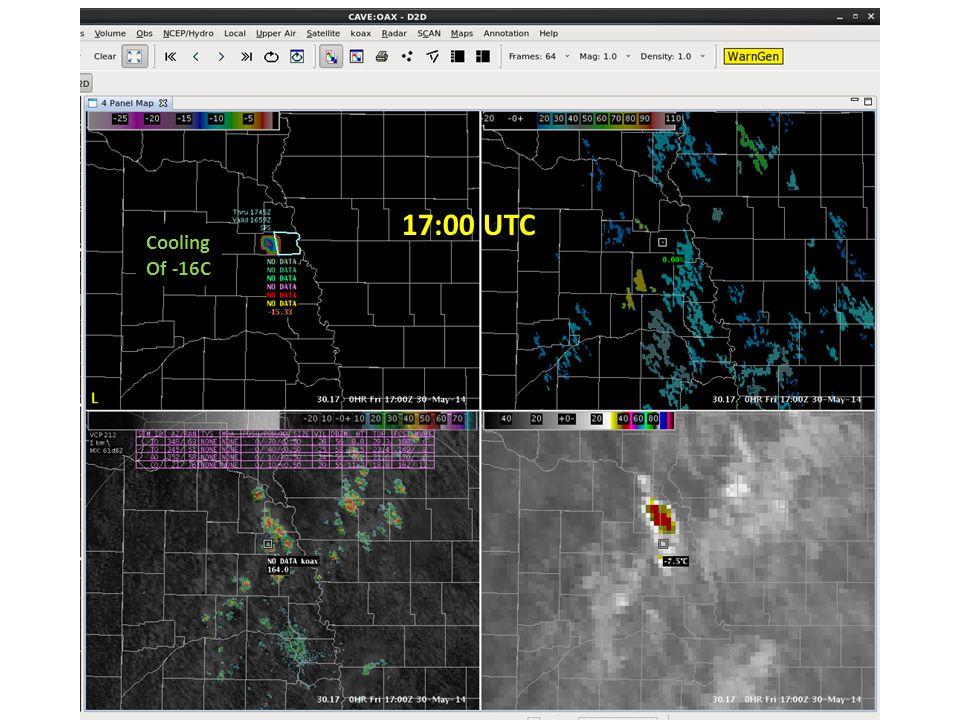 17:00 UTC Cooling Of -16C