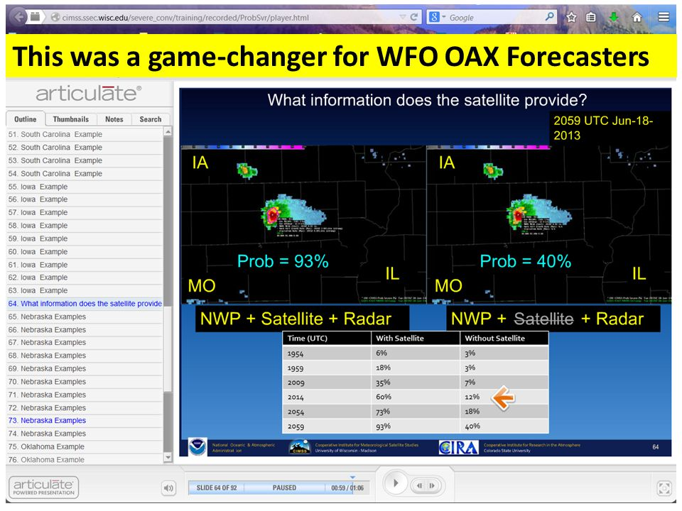 WFO OAX GOES-R/JPSS Training Experiences Sharing of Blog entries