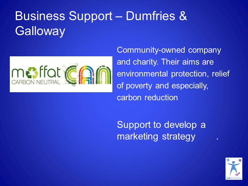 Business Support – Dumfries & Galloway Community-owned company and charity.
