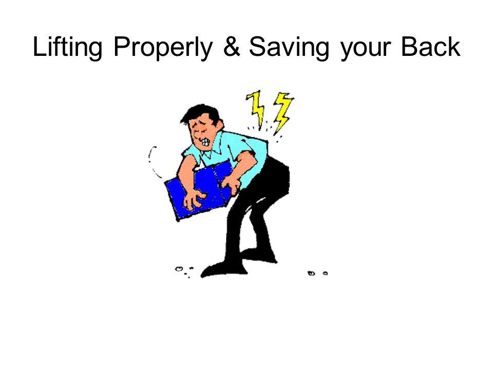 Lifting Properly & Saving your Back