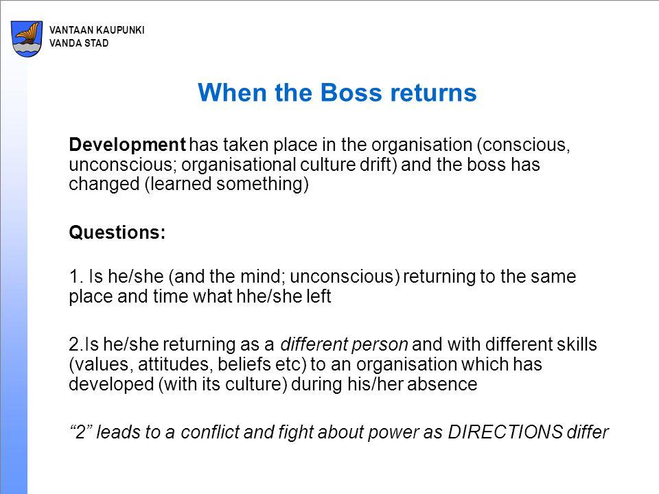 VANTAAN KAUPUNKI VANDA STAD Failure of Successful Return Strategic shift from customers to internal politics.