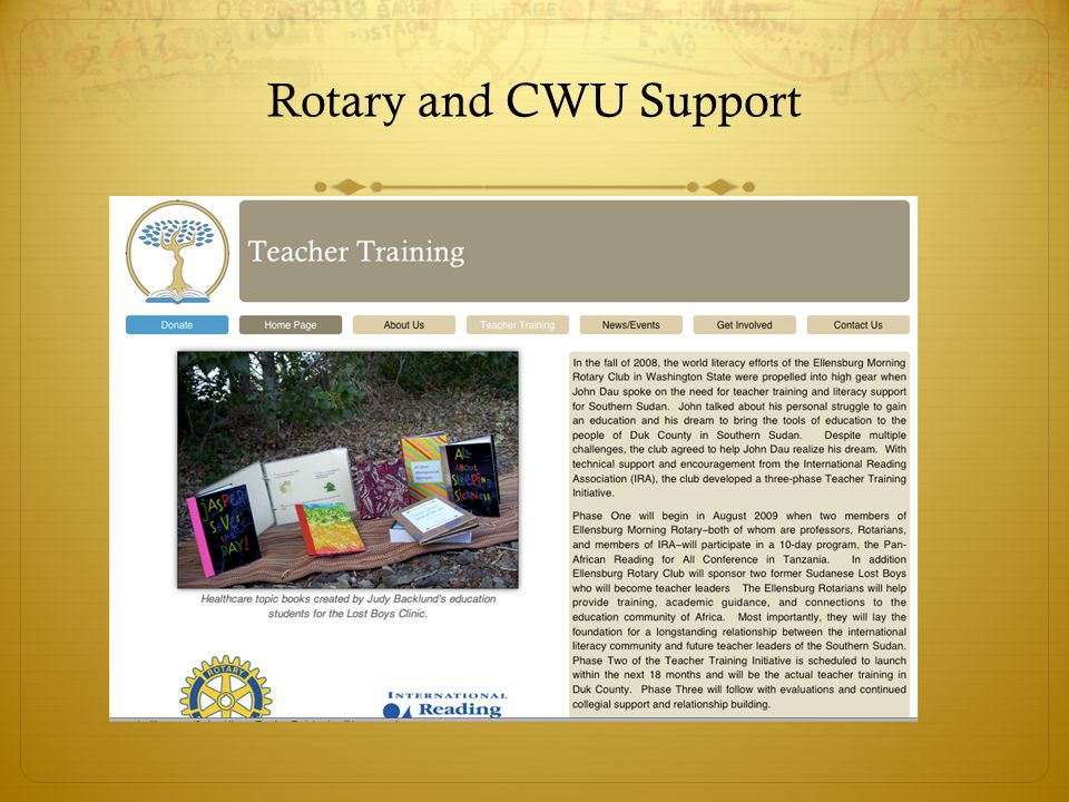 Rotary and CWU Support