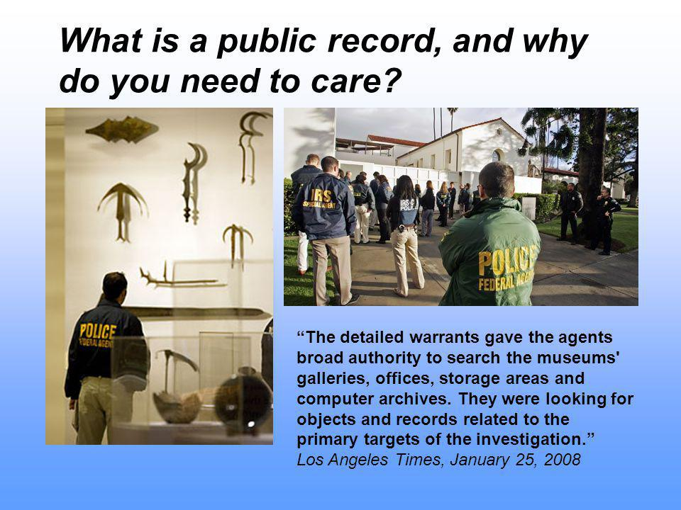 What is a public record, and why do you need to care.