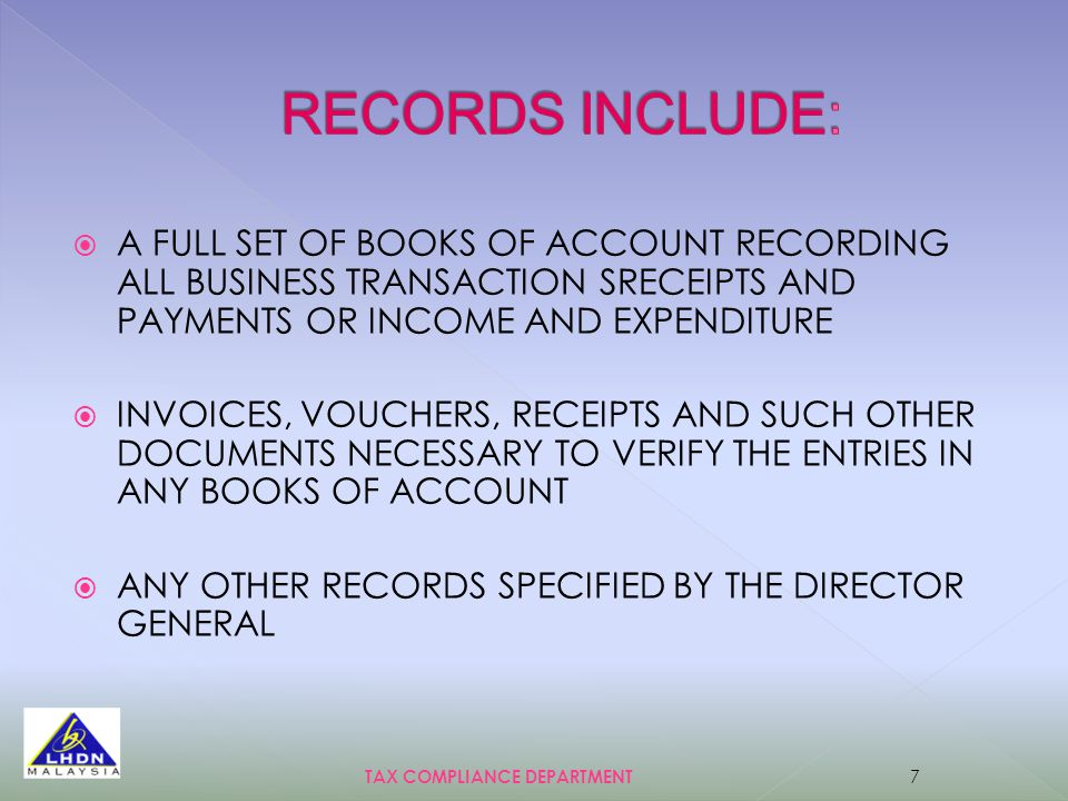  A FULL SET OF BOOKS OF ACCOUNT RECORDING ALL BUSINESS TRANSACTION SRECEIPTS AND PAYMENTS OR INCOME AND EXPENDITURE  INVOICES, VOUCHERS, RECEIPTS AN