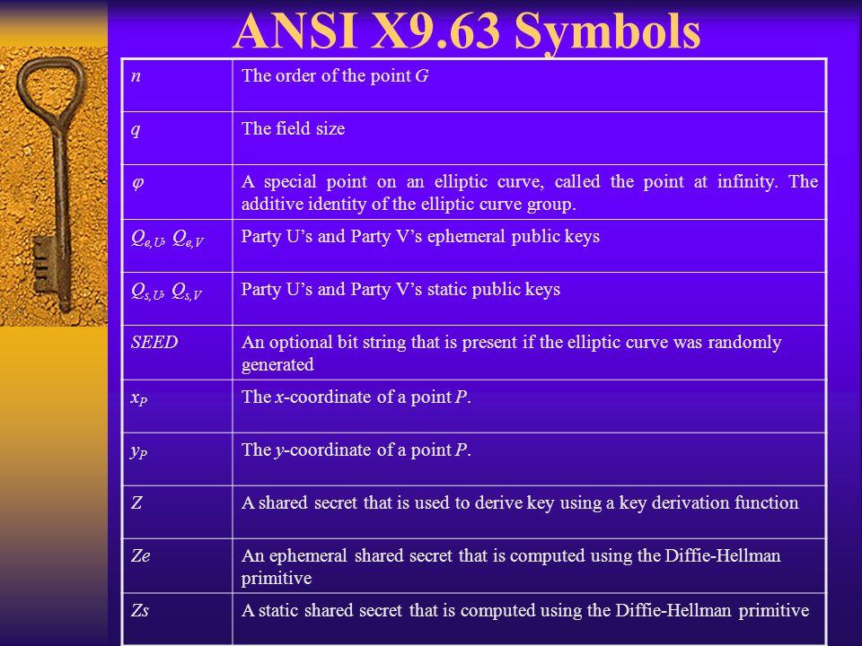 Table 17: Static Unified Model Key Agreement Scheme C(0,2,DH,EC)