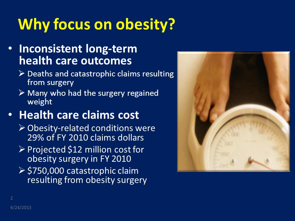 Why focus on obesity.