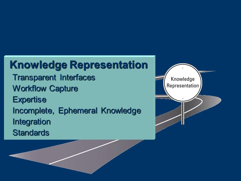 Knowledge Representation Transparent Interfaces Workflow Capture Expertise Incomplete, Ephemeral Knowledge IntegrationStandards
