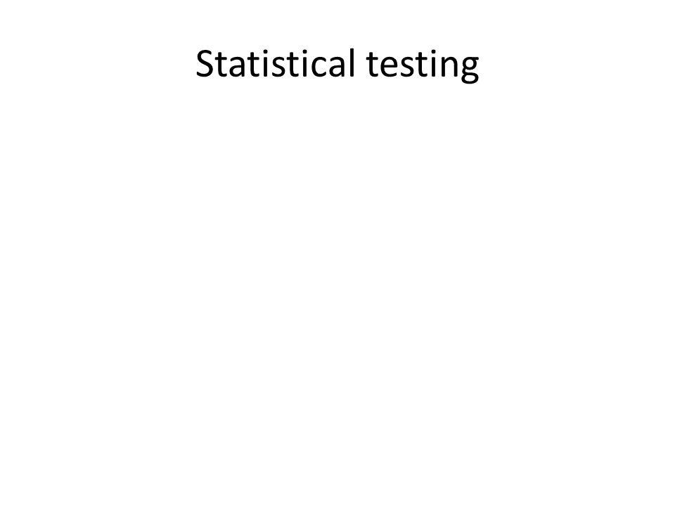 Statistical testing