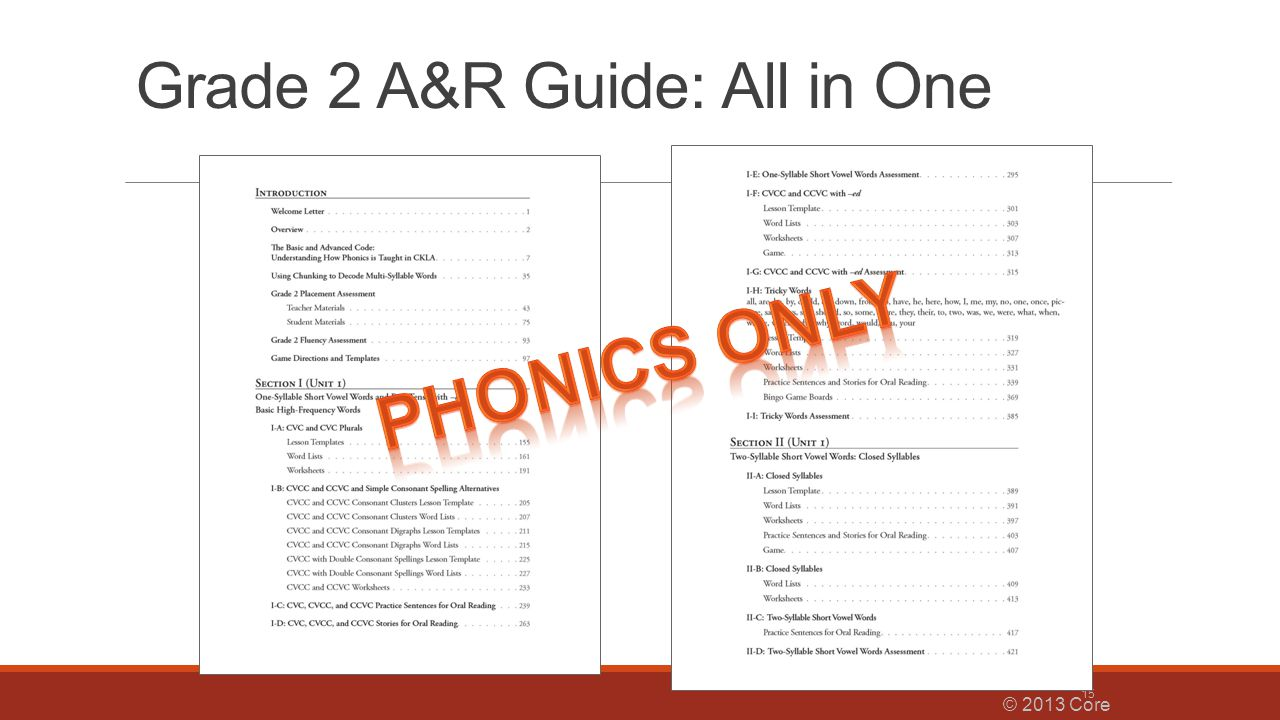 Grade 2 A&R Guide: All in One © 2013 Core Knowledge® Foundation 15