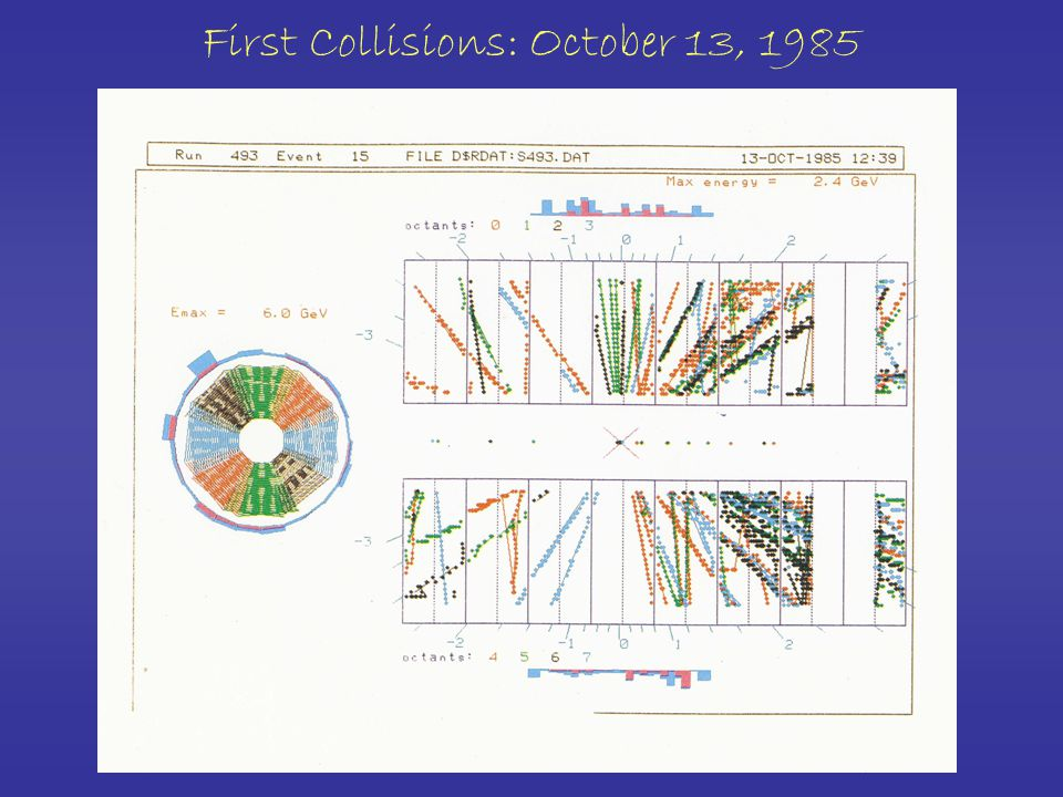 First Collisions: October 13, 1985