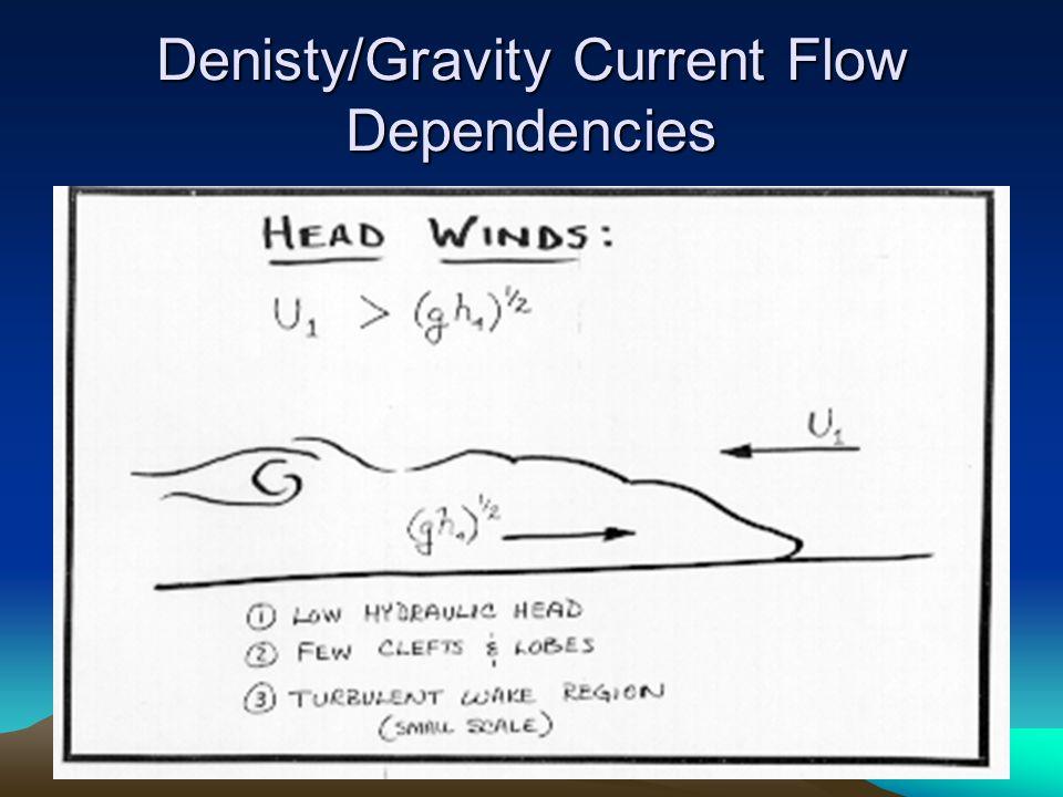 Denisty/Gravity Current Flow Dependencies